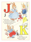 J is for Jam, K is for Kite Print