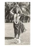 Girl Doing Hula, Hawaii Posters