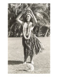 Girl Doing Hula, Hawaii Posters