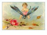 Boy Riding Dragonfly Prints