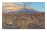 Amphitheater at Pompeii Poster