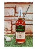 Joyeux anniversaire, whisky et golf Affiches