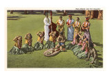 Hula Maids and Poi Pounder, Hawaii Prints
