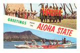 Greetings from the Aloha State Posters
