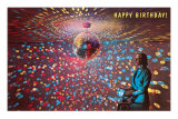 Happy Birthday Disco Ball Posters