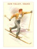 Sun Valley, Idaho, Cross Country Skier Prints