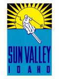 Sun Valley, Idaho, Skier Graphic Giclee Print