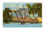 Railroad Bridge, Council Bluffs, Iowa Prints