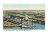 Seaboard Docks, Savannah, Georgia Prints