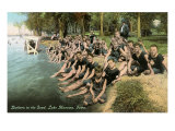Boys at Lake Manawa, Iowa Poster