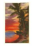 Sunset, Hawaii Prints