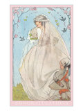 Wedding Congratulations, Old-fashioned Bride Poster