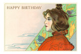 Joyeux anniversaire, Art nouveau Affiches