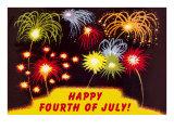 Happy Fourth of July, Fireworks Print