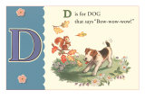 D is for Dog Posters