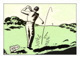 Driving off the Tee Poster