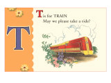 T is for Train Print