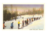 Sun Valley, Idaho, Skiers in Line Prints