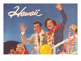 Hawaii, Tourist Couple on Ship's Rail Prints