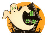 Halloween, Cartoon Ghost Prints
