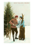 Sun Valley, Idaho, Couple with Skis Prints