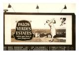 Billboard, Palos Verdes Estates, Golfer Print