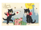 French Black Cats, Bonne Annee Poster