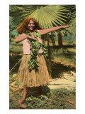 Hula Girl, Hawaii Prints