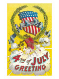 Fourth of July, Firecrackers Posters
