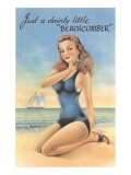 Beachcomber, Girl in Black One-Piece Posters