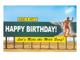 Surf's Up, Happy Birthday Prints