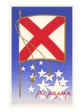 Flagge von Alabama Kunstdruck