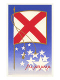 Alabama State Flag Print
