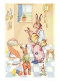 Rabbits at Home Poster