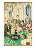 At the Roulette Table Prints