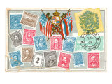 Old Stamps of Hawaii Posters