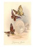Joyeuse Annee, Butterfly Revelers Prints