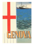 Genoa, Travel Poster Print