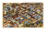 Aerial View, South Bend, Indiana Prints
