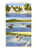 Scenes on Lake Coeur d'Alene, Idaho Print