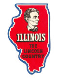 State Cut-Out, Illinois, Lincoln Country Prints