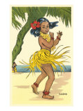 Luana, Little Hula Girl Poster