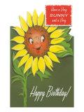 Happy Birthday, Talking Sunflower Prints