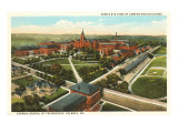 Aerial View of Georgia Tech, Atlanta Posters
