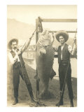 Two Men with Large Fish Poster