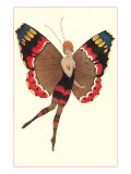 Coquette Lady as Butterfly Poster