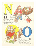 N is for Nest, O is for Owl Giclee Print