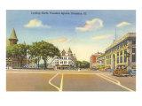 Fountain Square, Evanston, Illinois Posters