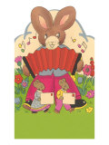 Rabbit Playing Accordion Print