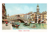 Painting of Rialto Bridge, Venice, Italy Prints
